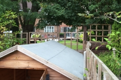 Re-felting of garden shed roof