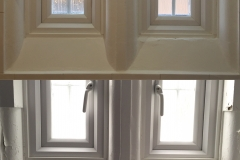 Casement redecoration, before and after