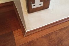 Fitting of laminate floor quadrant aspect 1