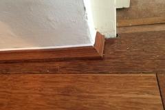 Fitting of laminate floor quadrant aspect 2