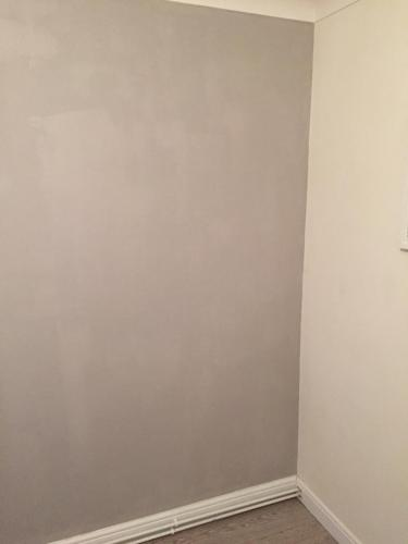 Grey feature wall