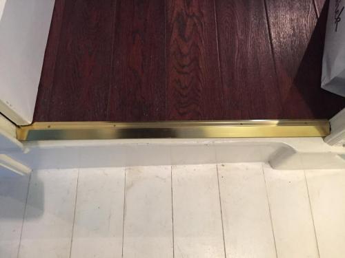 Brass door threshold
