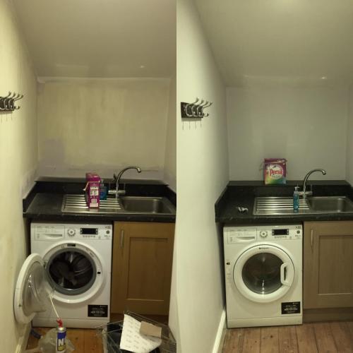 kitchen utility area redecoration